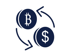 money exchange glyph icon , designed for web and app