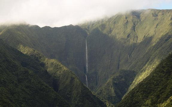 A View of Honokohau Falls, Maui's Tallest Waterfall, Hawaii