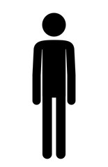 Door stickers Wall Decor With Your Own Photos male figure human silhouette vector illustration design