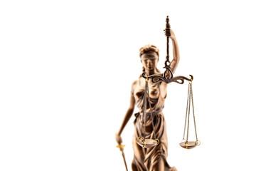 Justitia aus Bronze als Symbol für Gerechtigkeit