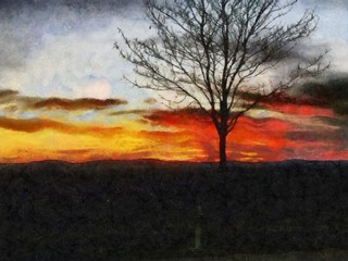 Oil painting. Art print for wall decor. Acrylic artwork. Big size poster. Watercolor drawing. Modern style fine art. Impressionism. Impressionist art. Painting for sale. Sunset. Beautiful landscape.