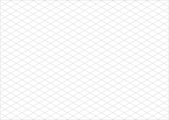 isometric grid paper a4 landscape vector