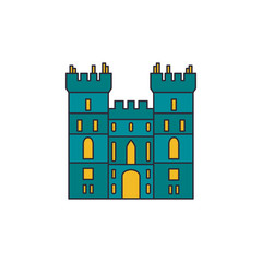 Windsor castle icon, cartoon style