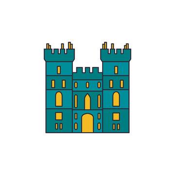 Windsor castle icon, cartoon style