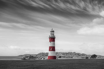 Lighthouse in Plymouth, England, UK