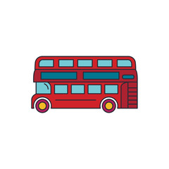London bus icon, cartoon style
