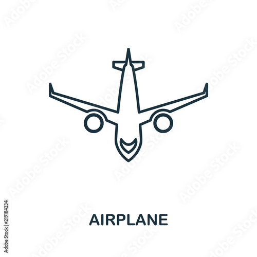 Aircraft outline icon  Simple element illustration  Aircraft