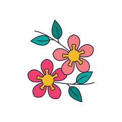 Tree flower icon, cartoon style