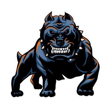 Devil dog vector illustration