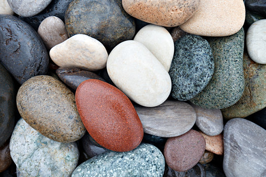 abstract background with wet round peeble stones