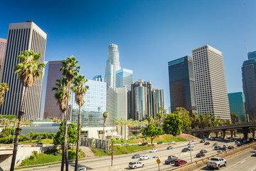 Photo sur Aluminium Los Angeles Los Angeles downtown