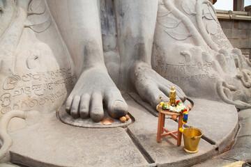Füsse der Gommateshwara Statue, Indien