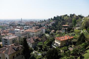 Blick von der Altstadt Bergamo