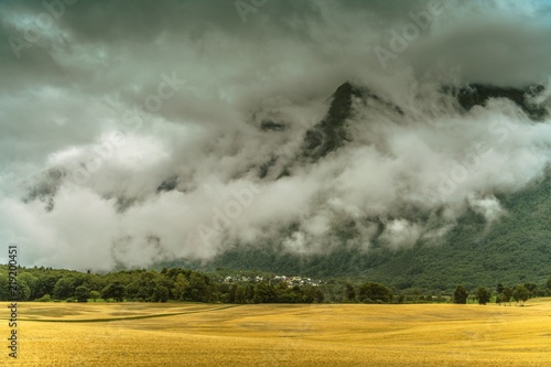 Wall mural Cloudy Norwegian Landscape
