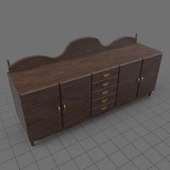 Ornate wooden credenza