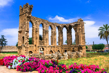 Landmarks of Cyprus - ruins of the Church of St John in Famagusta (Gazimagusa) Fototapete