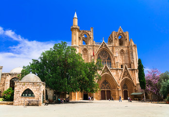 Deurstickers Cyprus Landmarks of Cyprus -Lala Mustafa Pasha Mosque (St Nicholas Cathedral) in Famagusta