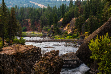 Bowl and Pitcher Area of Riverside State Park. Nine Mile Falls, Washington