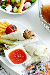 Azerbaijan tradicional food.Kebab