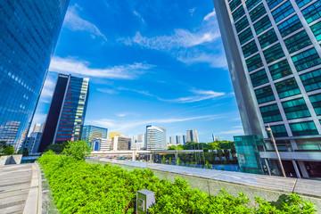 夏の高層ビル群 High-rise building in Tokyo