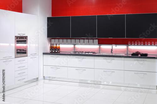 cucina moderna con mobile angolare\