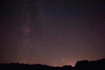 Meteor lightning the galaxy