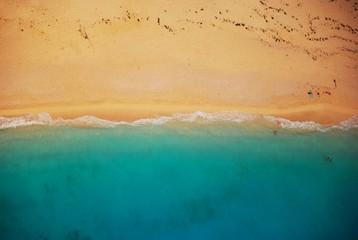 Beach from above, landscape ocean, sand sun, summer