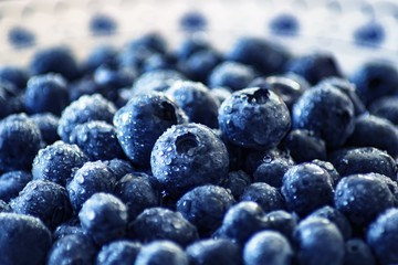 Bunch of blueberries, close up, fruits