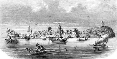 Ardrian Souli, former Sultan of Mayotte, vintage engraving.