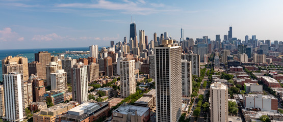 Chicago Skyline - looking down N. LaSalle Drive