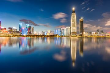 Shenzhen Nanshan District Ren Cai Park Night Scene