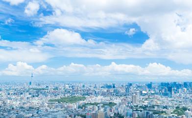 東京風景・夏空 都心全景