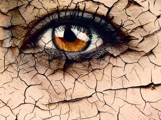 Woman Closeup Aging concept