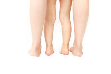 家族の脚のボディーパーツ,健康幸せ家族親子イメージ