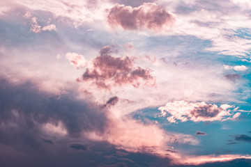 Pink Sky Clouds background