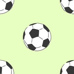 Football soccerball seamless pattern, tile hand drawn style vector doodle design illustrations