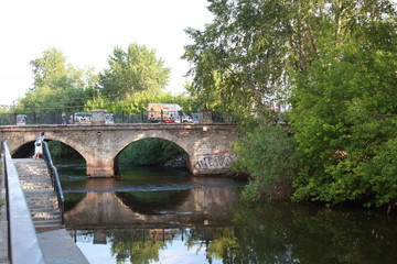 The old bridge over the Iset river in Yekaterinburg