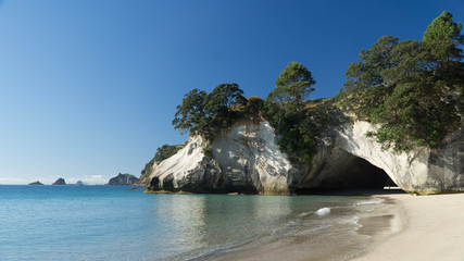 Foto op Textielframe Cathedral Cove Sunny day around Cathedral Cove in Coromandel, New Zealand