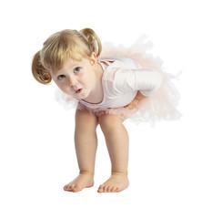 isolated female child with tutu