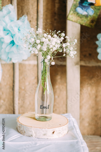 Dekoration Hochzeit Glas Schleierkraut Stock Photo And Royalty Free