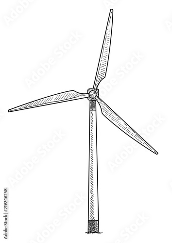 u0026quot windmill  wind turbine illustration  drawing  engraving  ink  line art  vector u0026quot  stock image and