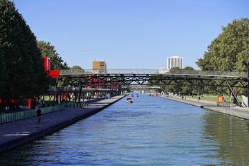 Canal Saint Martin, Paris, Frankreich, Europa