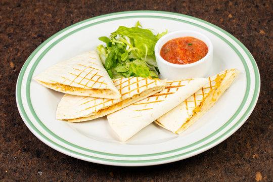 Delicious quesadilla pita