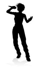 Singer Pop Rapper Rock Star Woman Silhouette