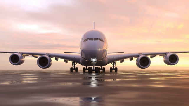 airplane on the runway