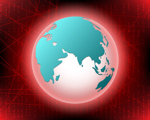 World Cyber attack by hacker concept background. vector illustration eps10