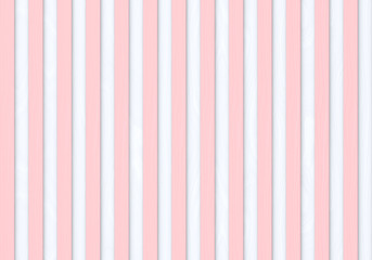 3d rendering. seamless modern sweet pastel pink color vertical wood panles row on white background.