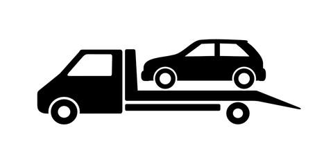 Obraz samochód auto pomoc ikona - fototapety do salonu