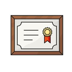 Certificate line icon