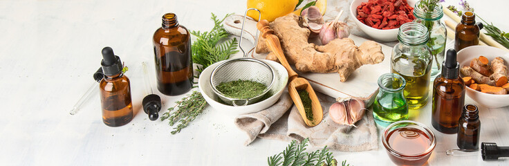 Tuinposter Aromatische Alternative medicine